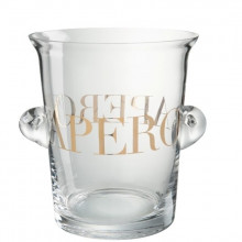 "ШАМПАННИЦА ""APERO"" GLASS/GOLD"